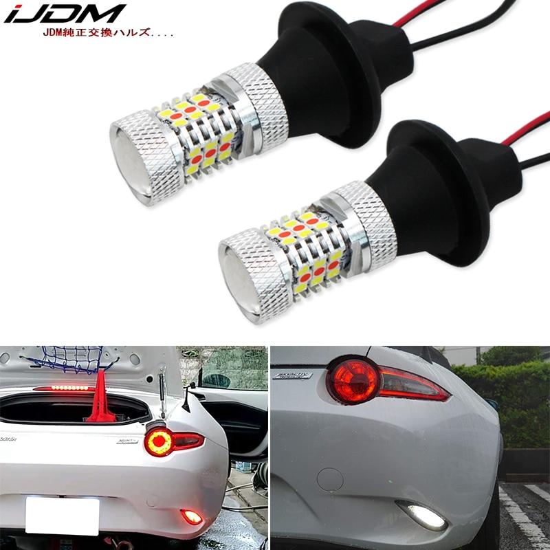 IJDM سيارة 12 فولت 31-SMD الأحمر/الأبيض LED احتياطية عكس الضوء/الخلفي الضباب مصباح تحويل ل 2016 متابعة مازدا MX-5 ND