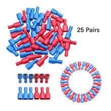 50 قطعة 6.3 مللي متر الإناث معزول المجرف تجعيد موصل طرفي مجموعة ل 0.5-2.5 مللي متر الكهربائية سلك كابل Connecors