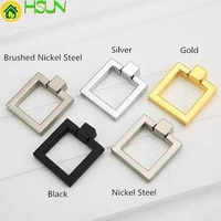 square drop rings pulls knobs cabinet door knobs handles dresser knob pulls drawer handles knob silver gold black furniture
