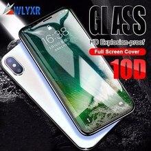 Couverture complète 10D bord verre trempé pour iPhone 7 8 verre iPhone XR XS Max Film de protection pour iPhone X 6 Plus protecteur décran