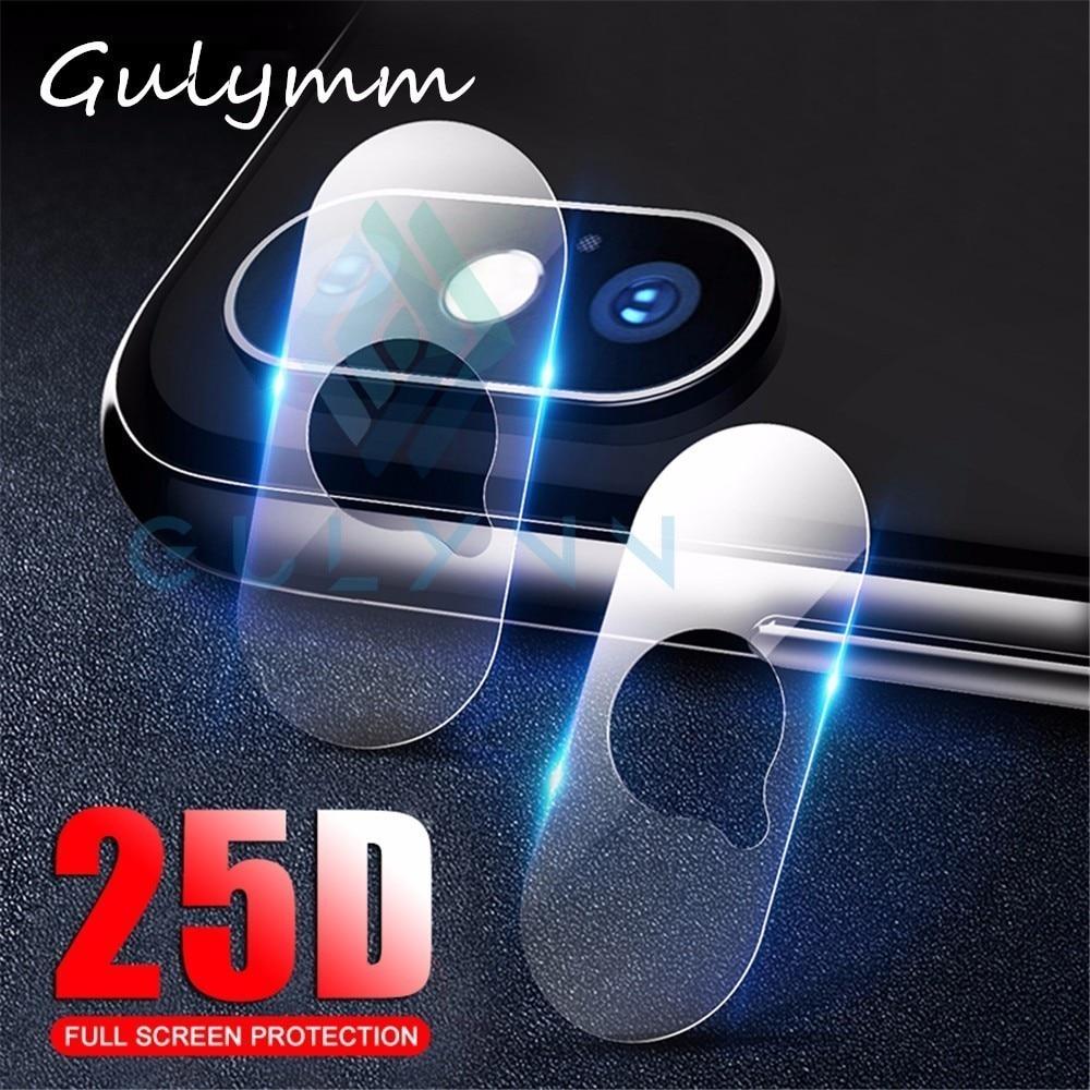 2 piezas de vidrio Protector de cámara 25D para iPhone 7 6X8 S Plus XS Max XR película de lente en X R S Max SX RS XSMax Protector de pantalla