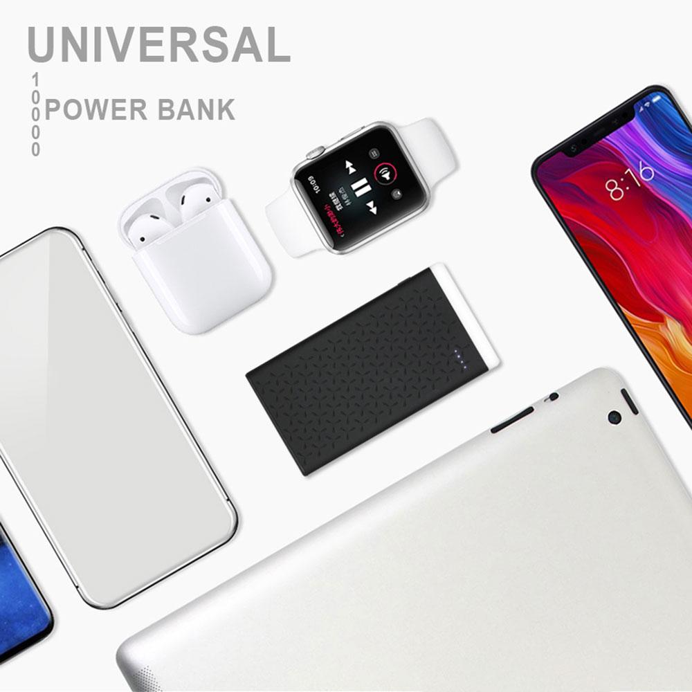 CASEIER 10000 mah banco de energía Universal para teléfono móvil batería externa cargador portátil 2 USB 2.1A cargador rápido Powerbank