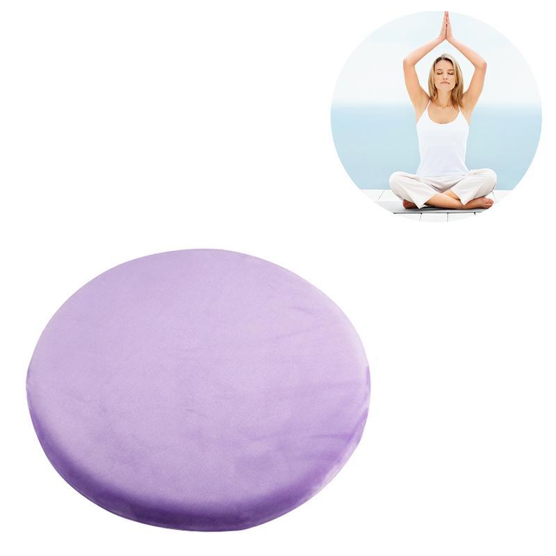 Almohada de meditación de Yoga, almohada de descompresión de algodón con memoria redonda, cojín antideslizante resistente al desgaste para oficina, sala de Yoga, hogar