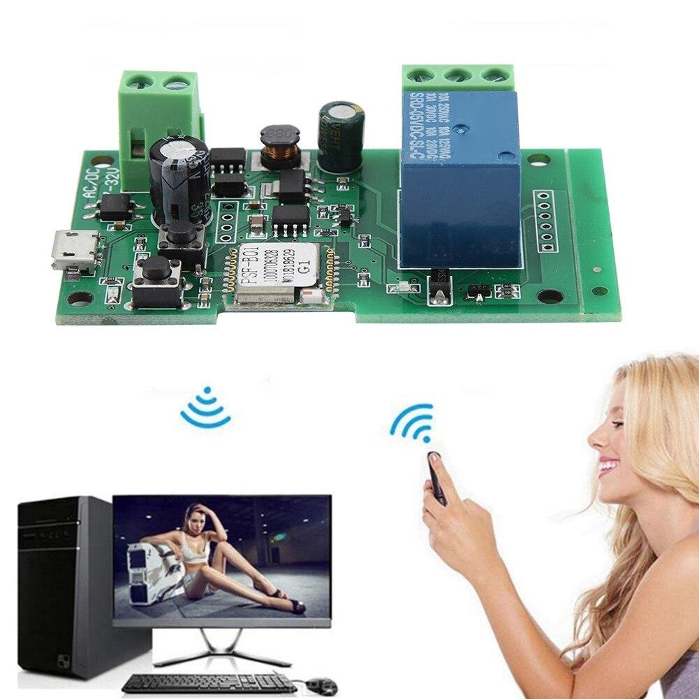 Sonoff Dc Wifi релейный модуль переключатель таймер задержка умный дом автоматизация беспроводной пульт дистанционного управления 5 в 12 В 24 в 32 В инчинг самозамок