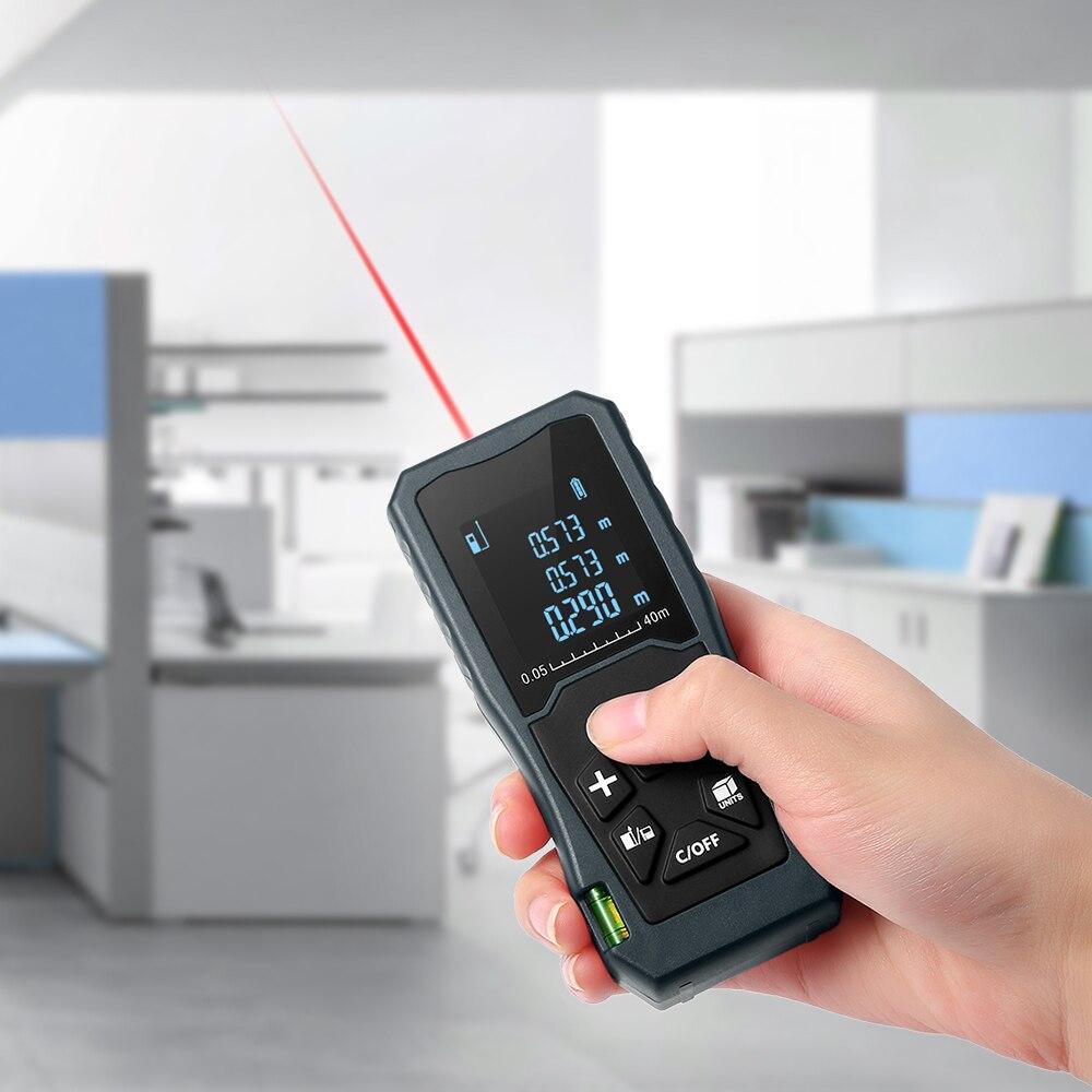 JP40 40M telémetro láser medidor de distancia LCD IP54 a prueba de agua 1,5 V adecuado para trabajo al aire libre carretera trabajo interior