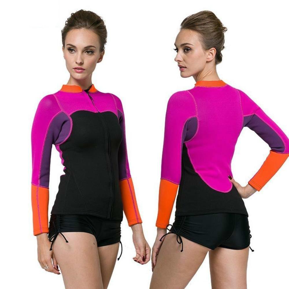 SBART 2mm neopreno Split-type previene UV medusas buceo traje de baño Tops mujeres playa Surf Snorkeling chaqueta traje de baño Anti -puñalada