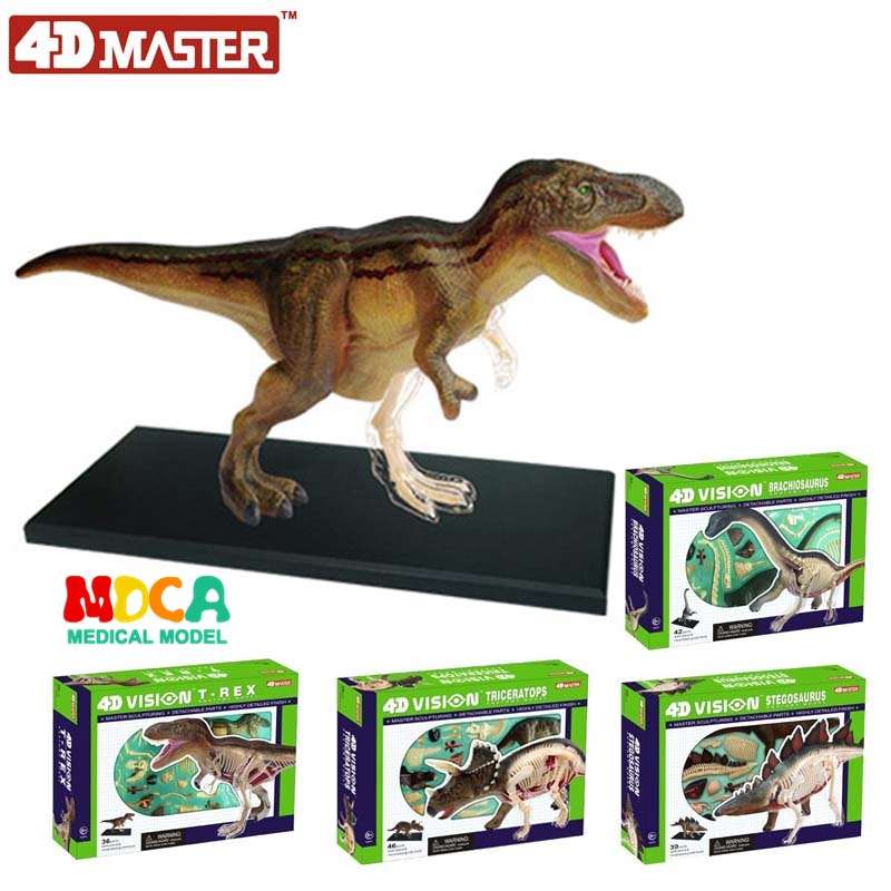 Tyrannosaurus Triceratops Brachiosaurus Stegosaurus 4d master puzzle Assembling toy Animal Biology Dinosaur organ anatomical