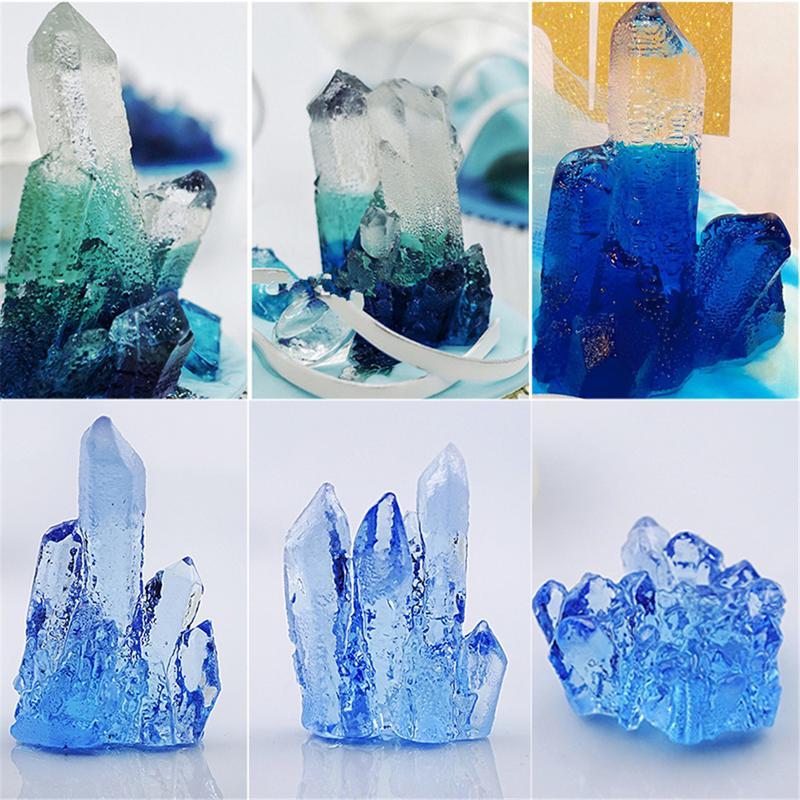 Neue 3D Kristall Spalte Silikon Formen Candy Mould Schokolade Formen Kristall Aroma Stein Formen