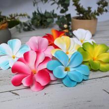 1 Pieces Artificial Hawaiian Plumeria Frangipani Silk Flowers Heads for DIY hair clip Wreath Scrapbook wedding decoration B47