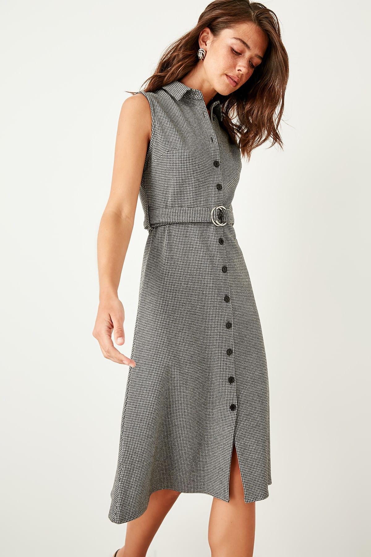 Trendyol Black Potikareli Knit Dress TCLSS19ST0023