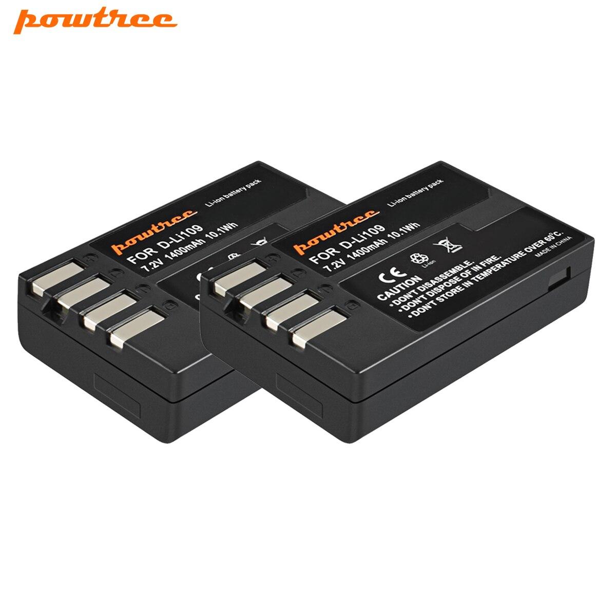Powtree D Li109 DLi109 D-Li109 Batterie Pour Pentax K-70 K70 K-50 K50 K-30 K30 K-S1 KS1 K-S2 KS2 k-r Kr Appareils Photo Numériques L10