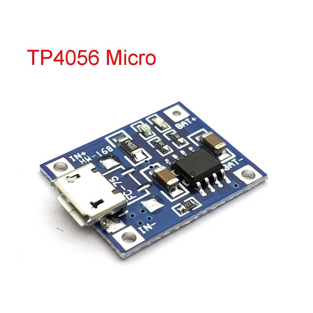 1A Micro USB 18650 Lithium-Batterie Lade Bord Ladegerät Modul + Schutz Dual Funktionen TP4056