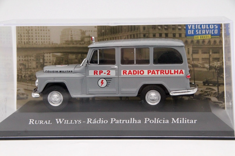 IXO Altaya 143 Scale RuRal Willys Radio Patrulha Policia Militar RP2 Auto Diecast Models Toys Car