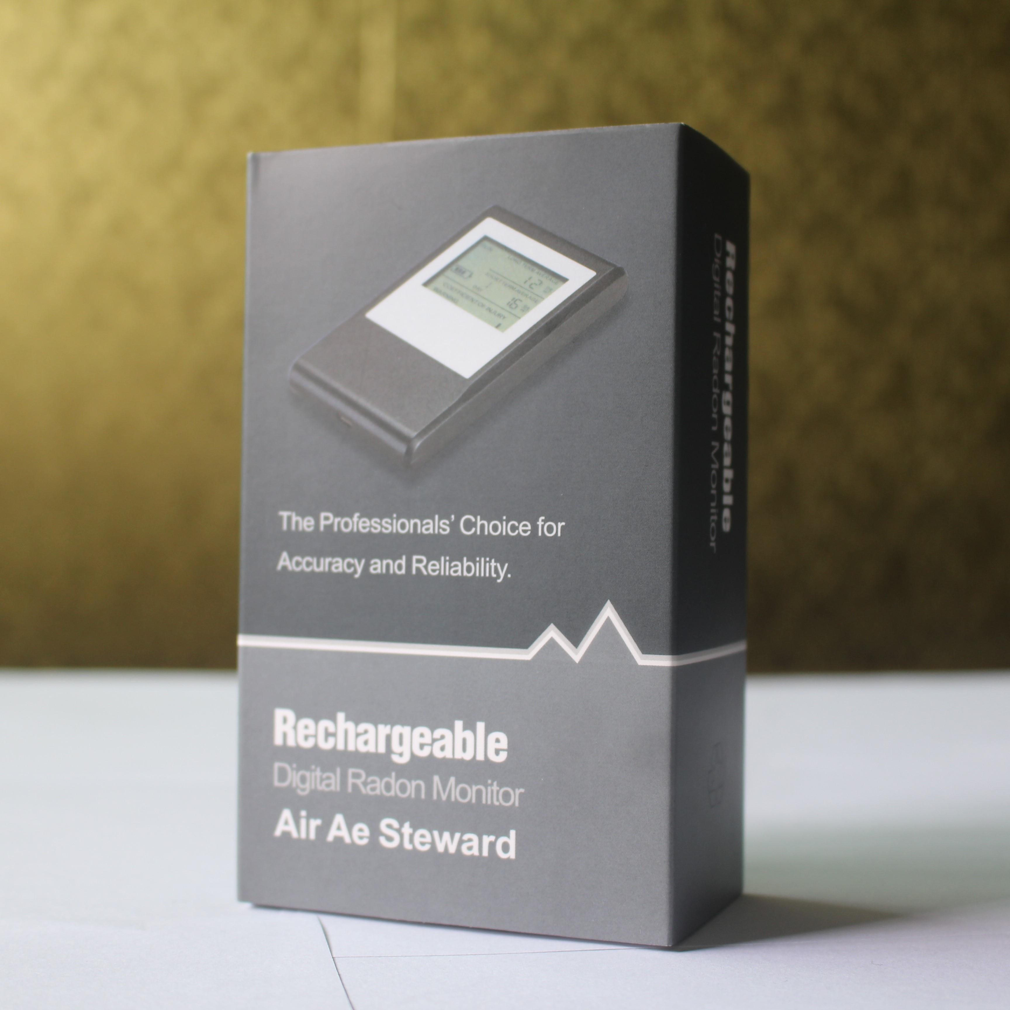 O detector de gás pessoal portátil do radon da proteção dá a medida em becquerels pelo medidor cúbico