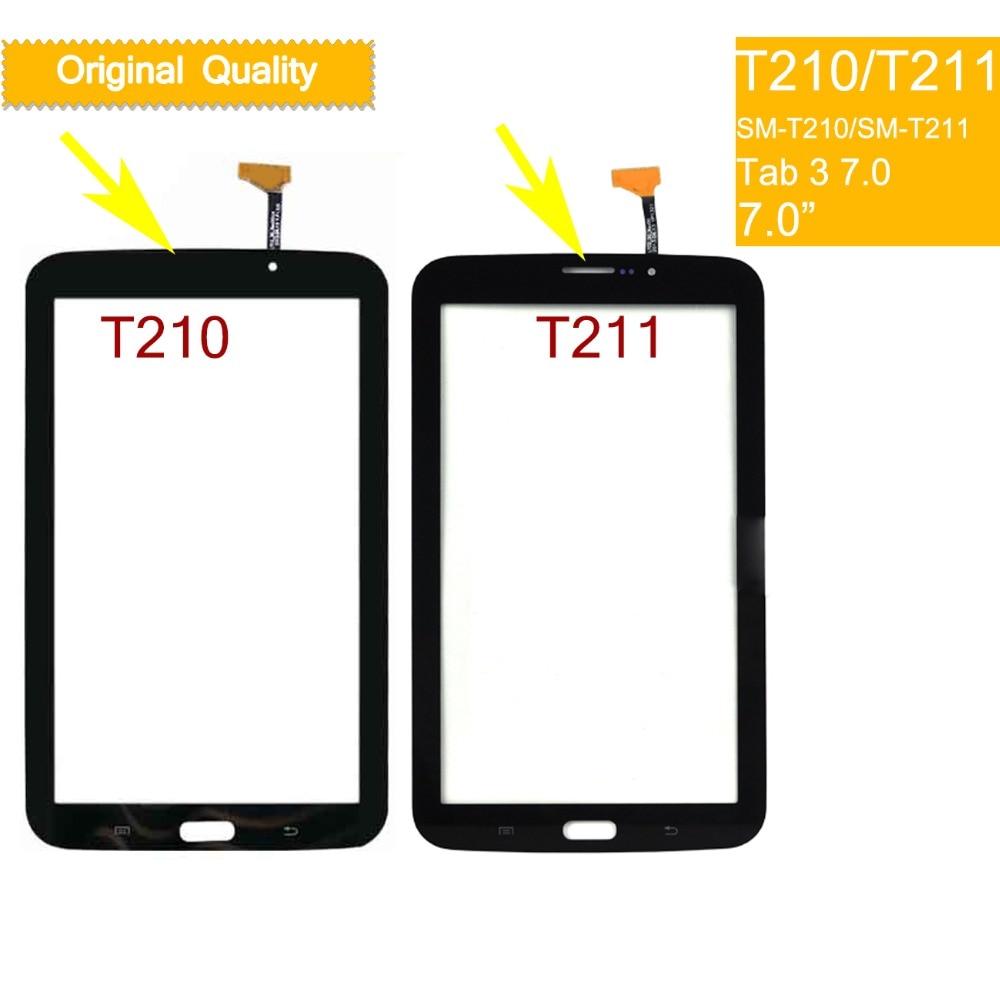 10Pcs/lot For Samsung Galaxy TAB 3 LITE 7.0 SM-T210 T210 SM-T211 T211 Touch Screen Digitizer Glass Panel Sensor Touchscreen
