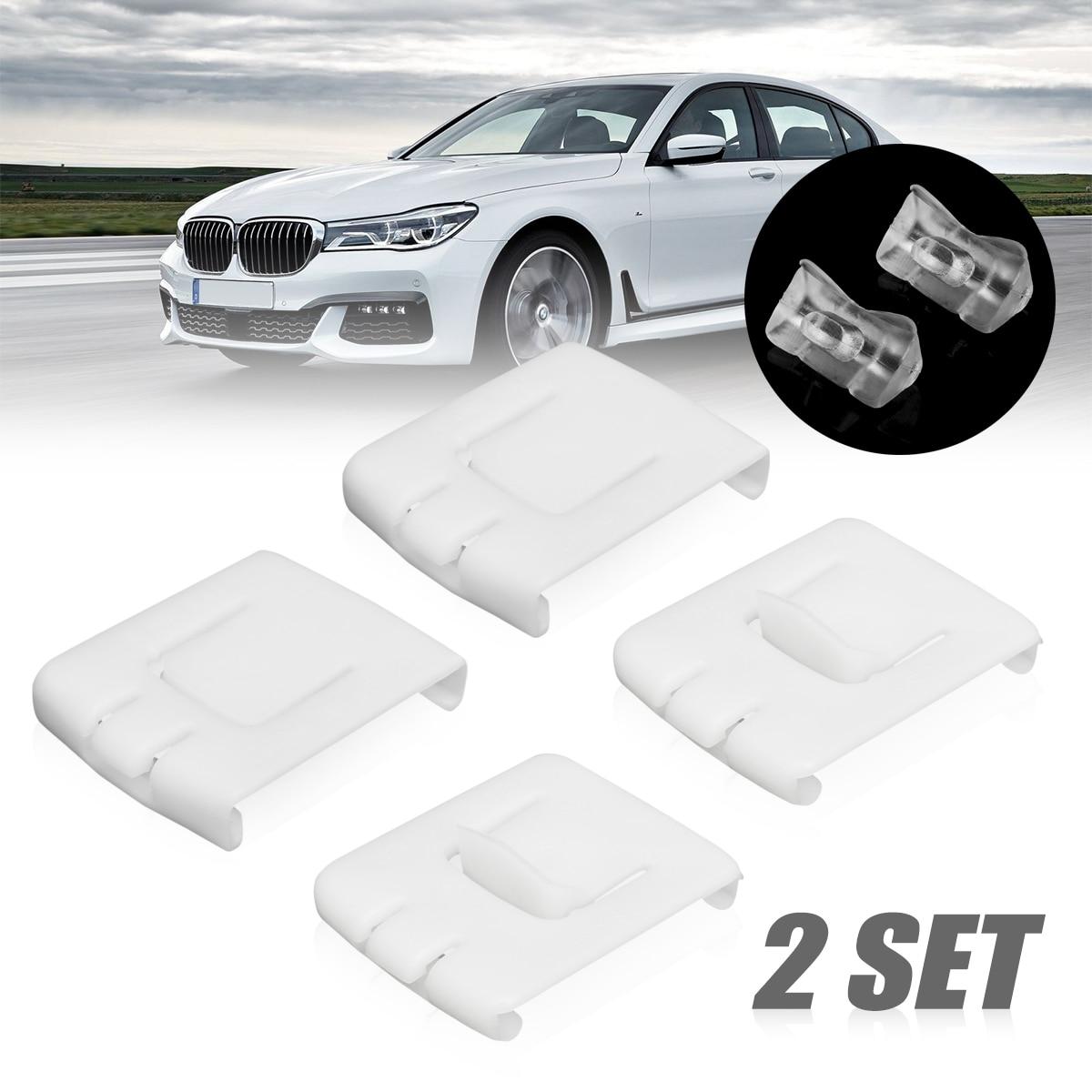 Plástico blanco 2 Set 6 piezas siut asiento hebilla Clip guía corredor 435881203A C10 para VW GOLF MK1 MK2 MK3 CORRADO SCIROCCO