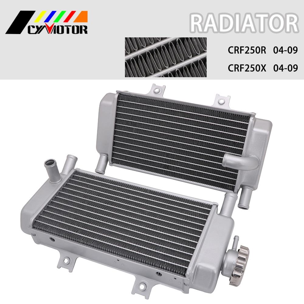Free Shipping motorcycle Alloy Aluminum radiator For Honda crf250r crf250x crf 250r 250x 2004 2005 2006 2007 2008 2009