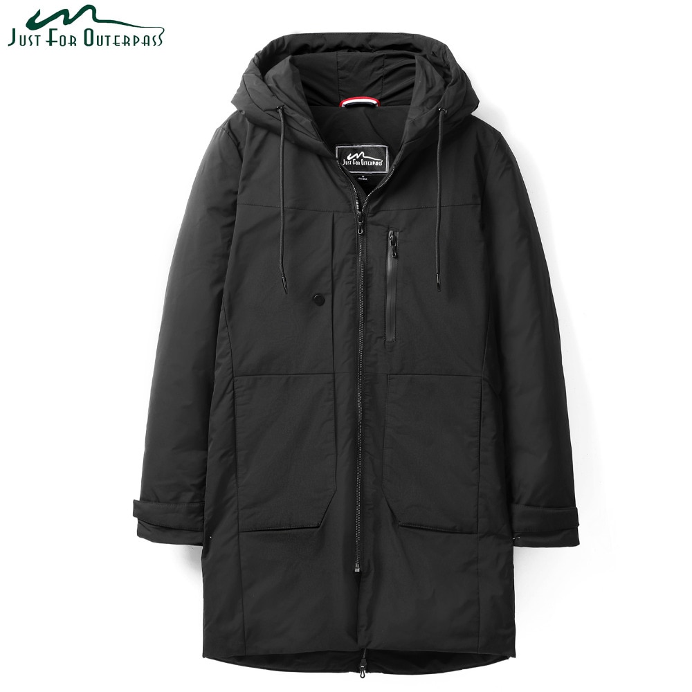 ¡Novedad de 2019! chaqueta gruesa de invierno para hombre, ropa impermeable cálida de marca, Parkas largas de plumón de pato blanco 90% para hombre
