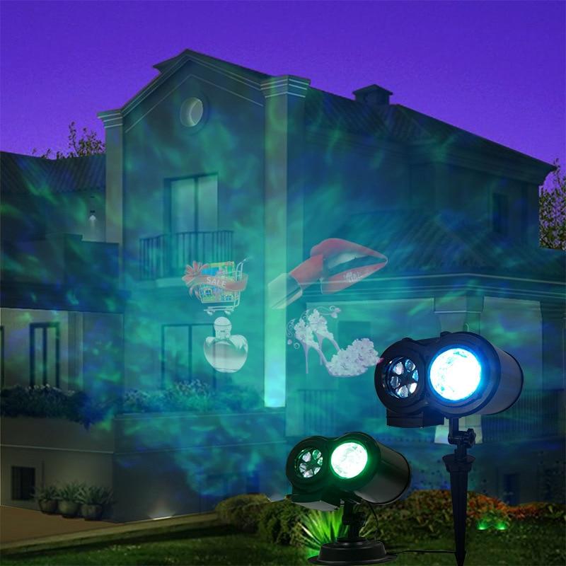 2 em 1 led onda de agua ondulacoes projetor led luzes do palco com controle remoto