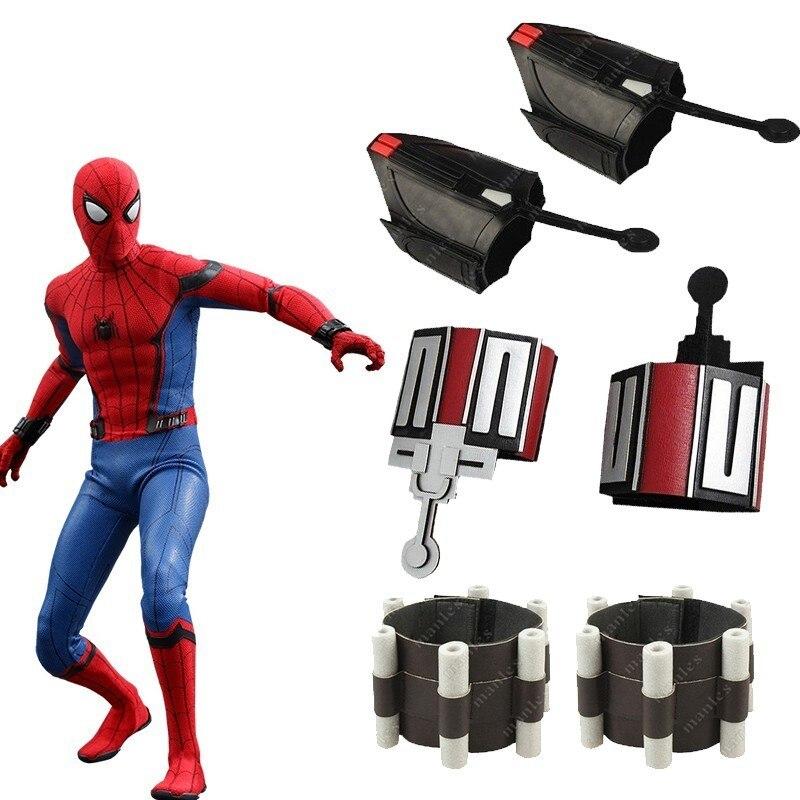 Spider-Man Homecoming Web Shooter Spider-Man przebranie na karnawał akcesoria gadżety na halloween Spiderman karnawał dorosłych mężczyzn skóra