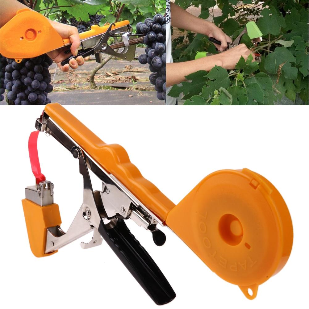 Máquina de amarração planta de jardim tapetool tapener com rolos fita para vegetal fruta planta amarrando tapetool dropshipping