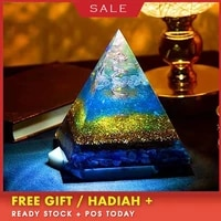 aura orgonite transparent pyramid change the magnetic field of life reiki stone aura crystal resin decorative craft jewelry