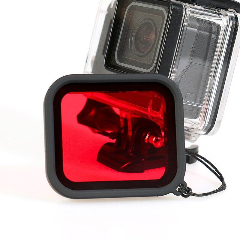Filtro de buceo impermeable para Gopro Hero 5 submarinismo funda protectora para Hero5 filtros de cámara de acción para accesorios GoPro
