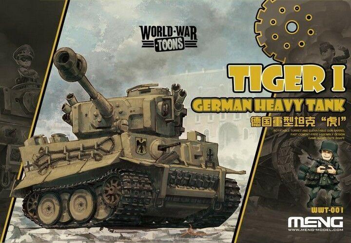 Modelo Meng, WWT-001, tanque pesado alemán Tiger I (edición Q), bonito envío rápido gratis