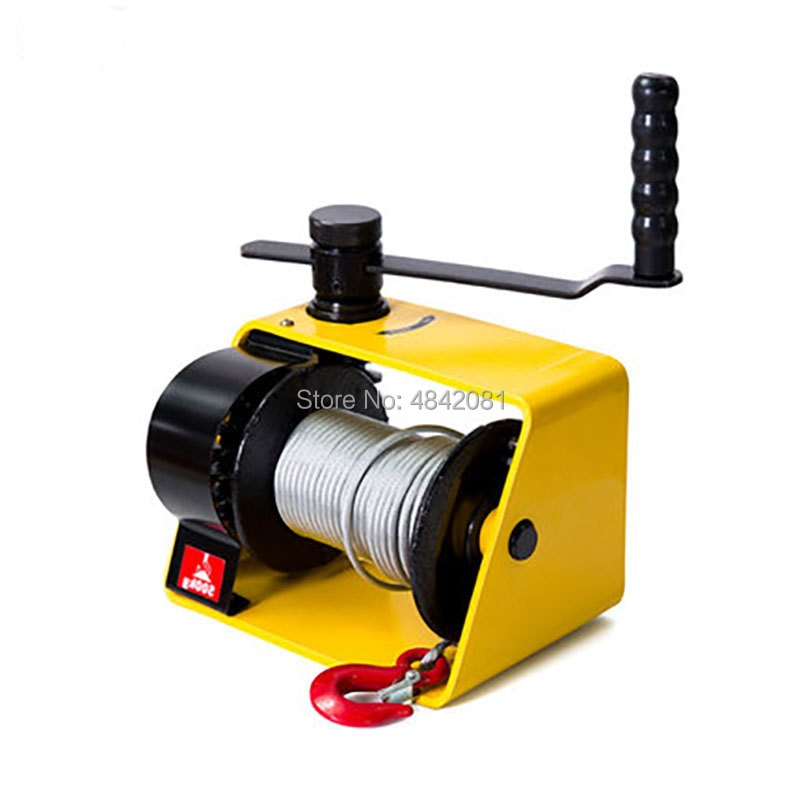 ship from de professional hand winch webbing strap 8m manual operated winch 1500kg truck auto boat trailer lifting tool new 250kg/500kg/1Ton/2Ton Manual winch Boat truck auto self-locking hand manual Galvanized steel winch hand tool lifting sling