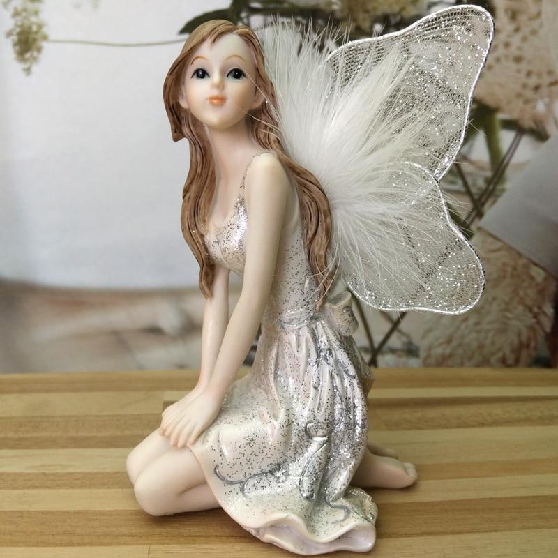 Fairy Figurines Resin Ornament Girl Angel Home Decor Wedding Decoration Gift For Women