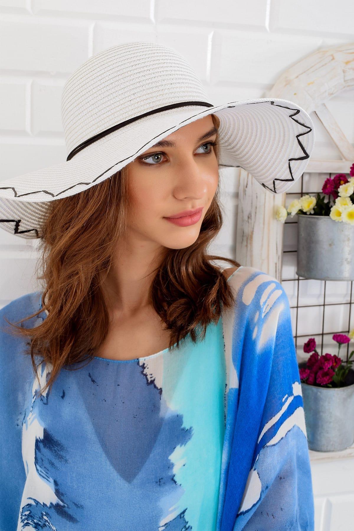 Тренд: alacati стильная женская белая соломенная шляпа ALC 6314|Бейсболки| |