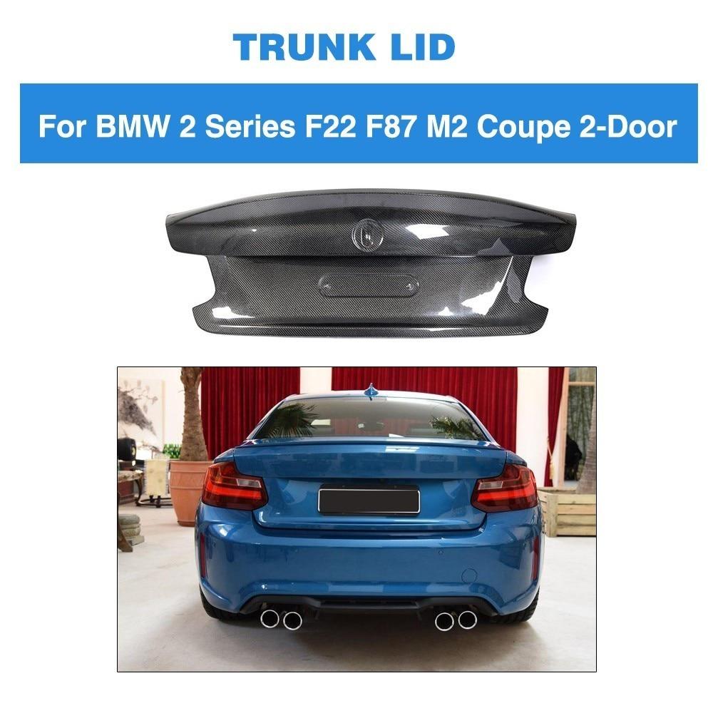 Para BMW F22 F87 M2 Base Coupe M Sport 2 puertas 2014 - 2018 alerón trasero maletero alerón labio carga cubierta fibra de carbono