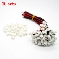 10 kits new 26awg jst xh2 54 2 pin connector plug wire cable 10152030mm length male female plug socket
