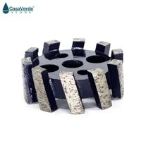 50mm cnc stubbing wheel segmented type for router machine calibrating wheel stone granite marble diamond profiling wheel