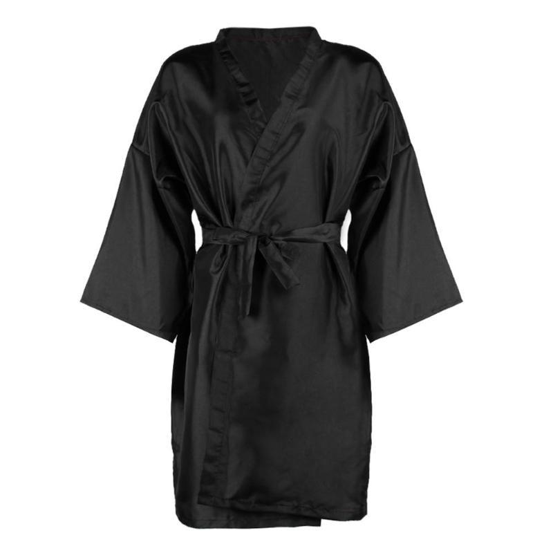 Peluquería abrigo Spa masaje Albornoz impermeable belleza salón ropa negro