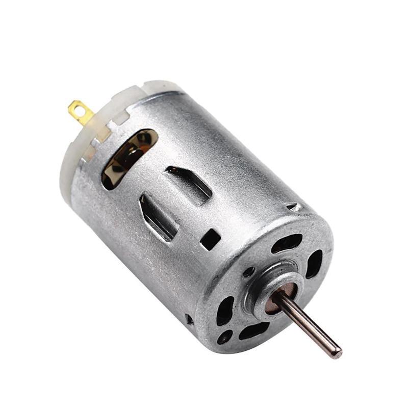 RS-385 de Motor de engranaje de Metal de 9800RPM, Micro Motor de CC de alta velocidad, Motor de engranaje de Metal cepillado de acero inoxidable, Motor de engranaje de 12V CC
