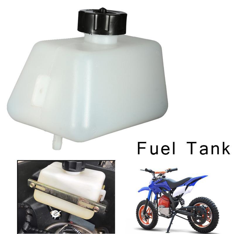 1l plástico da motocicleta 43 47 49cc gasolina tanque de combustível para mini moto pit dirtbikes filtro moto acessórios