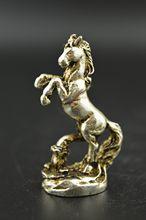 Miao-Statue en argent robuste   Animal réaliste, Rare et délicat, sculpture en argent