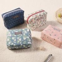 Sac a cosmetiques a motif Floral doux 1 piece  Kit de toilette  sacs de lavage  organisateur de voyage Portable  maquillage  sac de rangement de grande capacite
