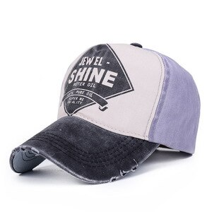 2019 New 100% Washed Cotton Men Baseball Cap  Snapback Hat For Women Gorras Casual Casquette Printing Letter Retro Cap