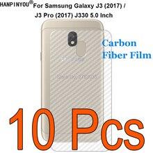 10 Pcs/Lot For Samsung Galaxy J3 Pro (2017) J330 Durable 3D Anti-fingerprint Transparent Carbon Fibe