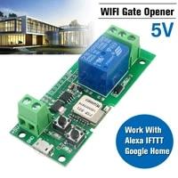 Le controleur douvreur de porte de Garage a distance de 5V WiFi fonctionne pour Alexa pour le commutateur de telecommande sans fil de maison de Google