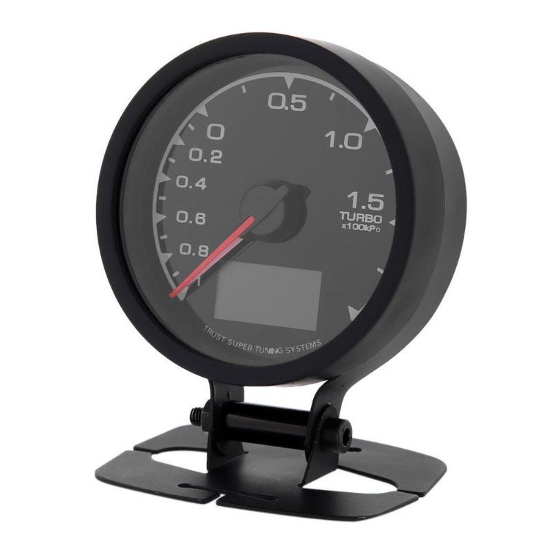 Pantalla LCD colores Universal 2.5in 7, Auto Turbo Boost Gauge, vehículo de carreras con 5 modos de escaneo, nivel de alarma ajustable