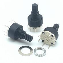 Interrupteur à bande rotative plastique   Lot de 5 pièces SR16 MM 2 pôles 3 4 positions 1 pôle 5 6 8 positions longueur de poignée 15MM