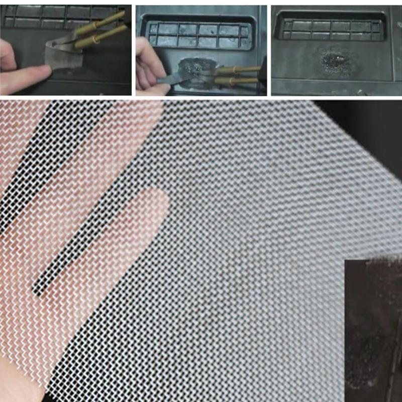2019 New Glue Mesh Universal Repairing Panels Fix Stainless Steel Car Bumper Grille Net