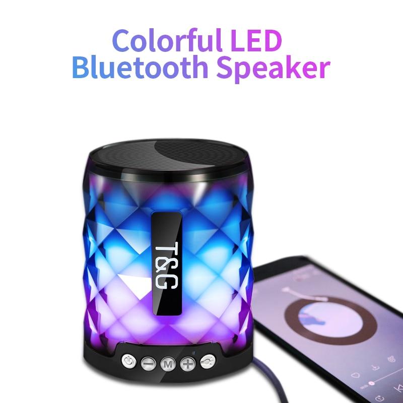 TG colorido Led Bluetooth altavoz portátil al aire libre altavoz inalámbrico Mini columna soporte TF tarjeta FM estéreo Hi-Fi cajas