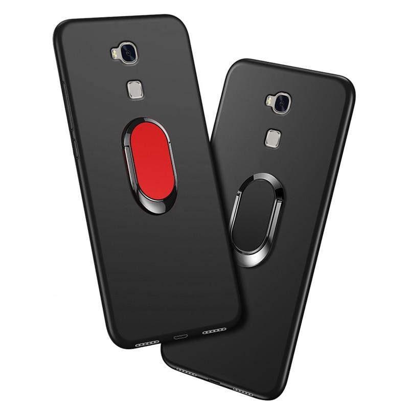 Capa para Huawei honor 5X KIW-L21 GR5 KII-L21 L22 L23 KII-L03 L05 Caso luxo Macio Preto Capa de Silicone para Huawei honor 5X Funda