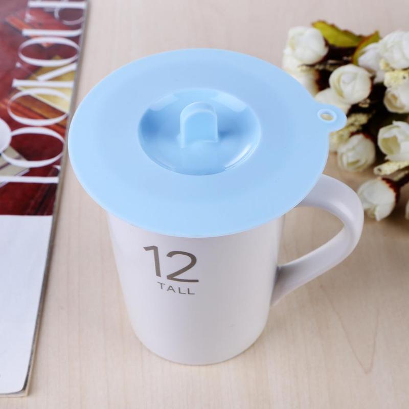 Tapa de taza de silicona reutilizable Anti-polvo a prueba de fugas taza de aislamiento cubierta de sello para accesorios de cocina