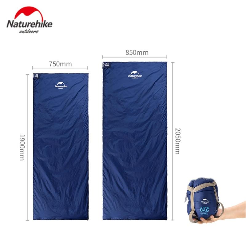Naturehike tamaño 190*75cm/205*85cm, saco de dormir tipo sobre para exteriores, para acampar y hacer senderismo, saco de dormir para primavera y otoño
