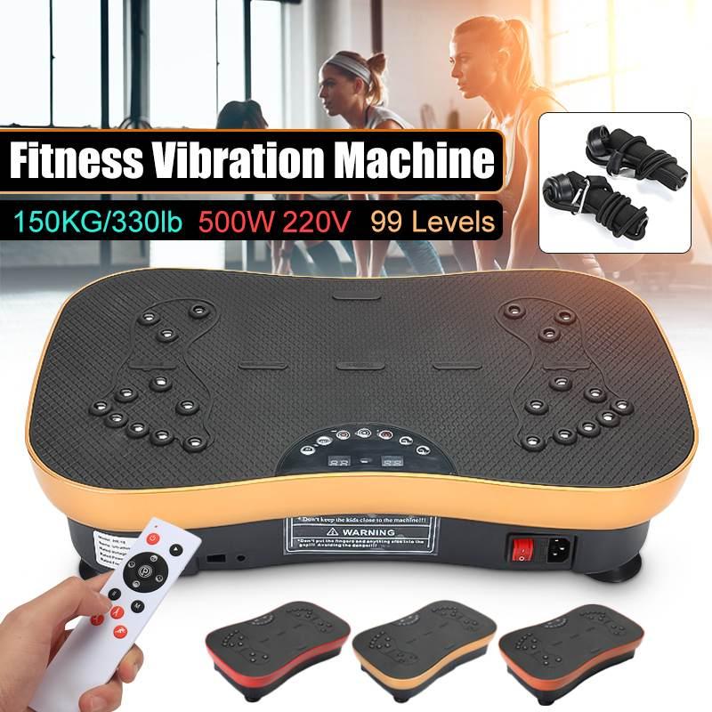 220V 500W Vibration Machine Exercise Platform Massager Body Fitness Remote exercise fitness equipment